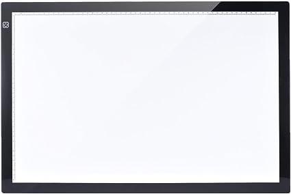 Aibecy Mesa de Luz Tableta Caja Dibujo A2 LED Portátil para calcar de Art Display Tablero