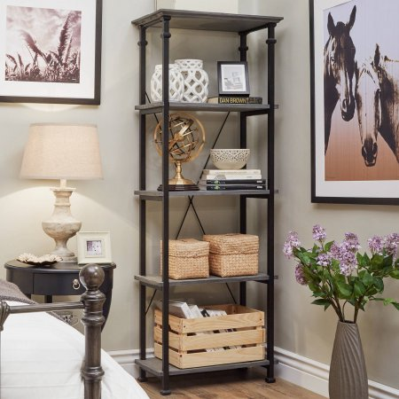 weston-home-metal-supports-bookcase-grey-unique-metal-and-weathered-wood-design-giving-your-living-s