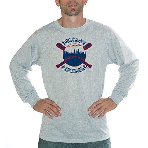 My City - Chicago Baseball Performance Long Sleeve Shirt (Mlb Ballpark Long Sleeve)