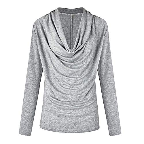 Solid Henleys Top, Duseedik Women Fashion Long Sleeve Cowl Neck Autumn Winter T Shirt Outwear Tops