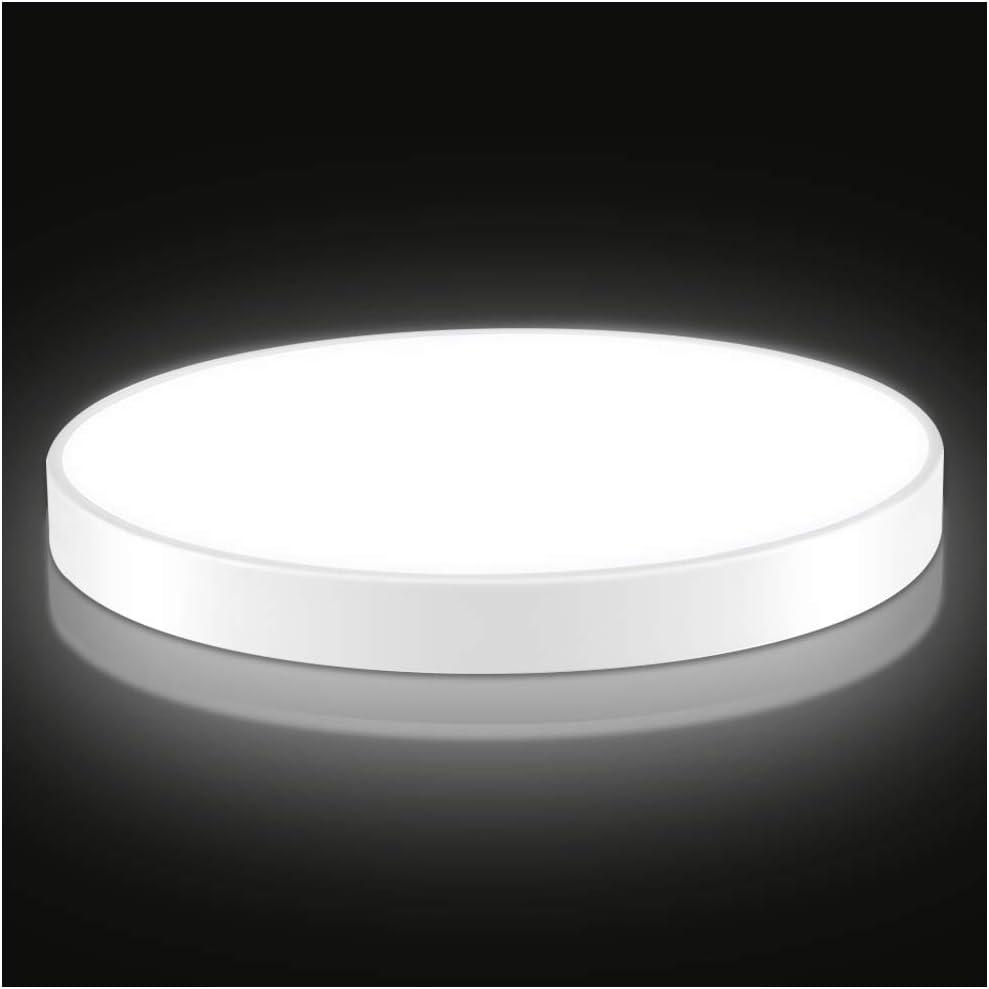 Plafon de Techo, Luz de Techo, 28W 2240Lúmenes Redonda Plafón Led, Blanco Frío 6000K Iluminacion Interior para Cocina, Balcón, Dormitorio, Sala de Estar Impermeable IP20: Amazon.es: Iluminación