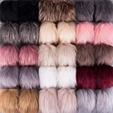 SIQUK 30 Pieces Faux Fur Pom Pom Balls DIY Faux Fox Fur Fluffy Pom Pom with Elastic Loop for Hats Keychains Scarves Gloves Bags Accessories(15 Colors, 2 Pcs for Each Color): more info