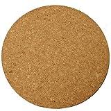 "Plastec Cork Mat 6 "" Natural Cork Black"