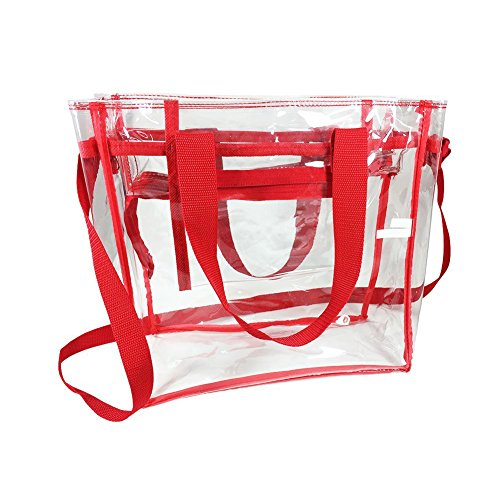 Clear And Stadium Pvc Bag Black Swimming Women Tote Handbag Red Waterproof Transparent Yiuswoy Men For Shoulder pATFqW8nAR