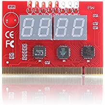 Chinatera Computer PC 4-digit PCI & ISA Code Mainboard Motherboard Diagnostic Analyzer Tester Card PCI Card Diagnostic Debug POST Card w/ External Display