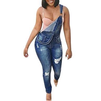 Beautyjourney Jean Push Up Femme Jacket Jeans Femme Pantalon Grande Taille  Combishort Femme Ete Pantalon Jeans Sangle Trou Plus Pantalons Pantalons ... 3bfd9753e22d