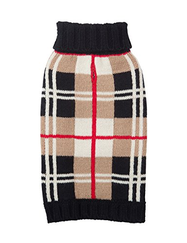Dog Sweater - Tan Plaid (Burberry-Like) by Fab Dog, 10 - Fab Designer Dog