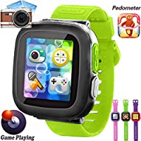 GBD Kids Game Smart Watches [AR Pro Edition] for Boys Girls Halloween Christmas Birthday Gifts with Pedometer Timer Camera Wristwatch Alarm Sport Watch Indoor Outdoor Children Learning Toys (Green)