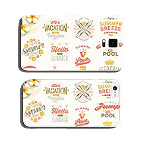 Set of summer holidays, vacation and travel type design cell phone cover case iPhone6