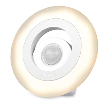 AVANTEK Luces LED de Noches con Sensores de movimiento LED Inalámbrico Inteligente con Batería Impulsado, 150 Lúmenes, Forma de Anillo, Blanco Cálido 3000K: ...