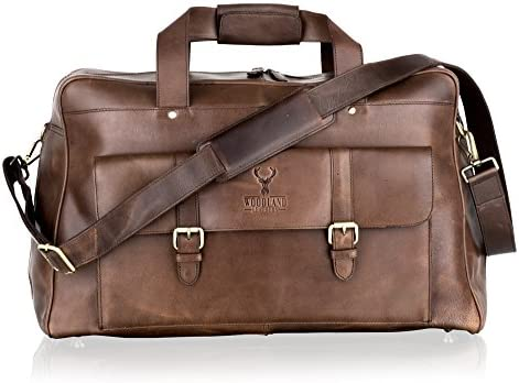 Woodland Leather Medium Size Travel Holdall Adjustable Removeable Shoulder Strap