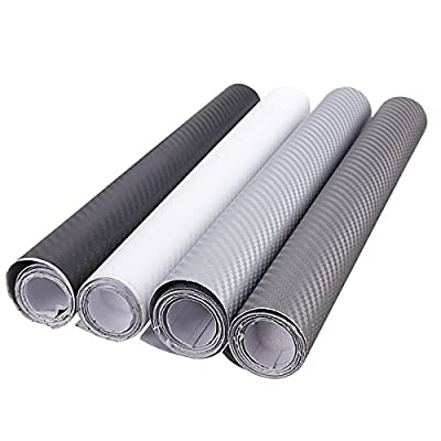 Exterior Accessories - 30x152cm 3d Carbon Fiber Vinyl Wrap Film Car Vehicle Sticker Sheet Roll - 1PCs