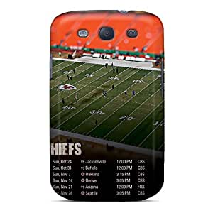 Perfect Hard Phone Cases For Samsung Galaxy S3 With Custom Stylish Kansas City Chiefs Pattern EricHowe