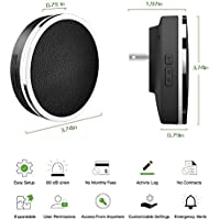 COWOO Professional Wireless Smart Home Security Alarm System DIY Kit, App Control by Smartphone,Works with Amazon Alexa