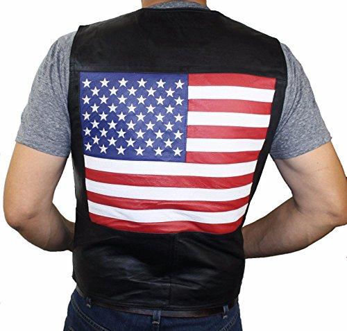 Flag Leather Vest - 3