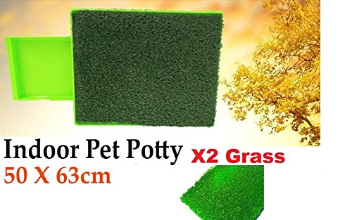 SAG Pet Dog Potty Pee Turf Grass, Bathroom Relief System, Durable Weather Proof, Synthetic Grass, Housebreaking, Portable, Easy to Clean, Non-Toxic, Perfect for Indoor & Outdoor