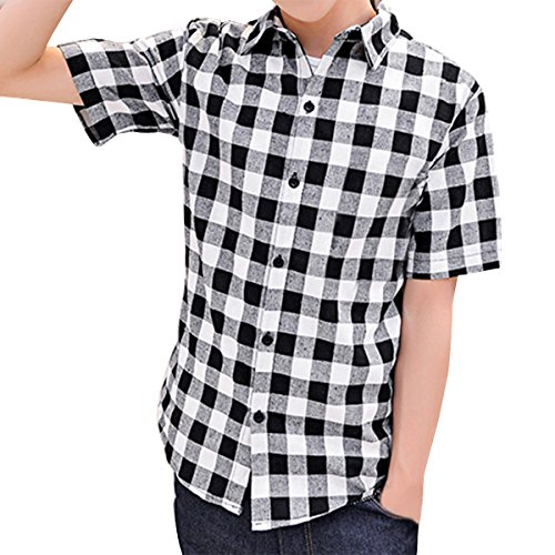 Black and White Checkered Shirt: Amazon.com