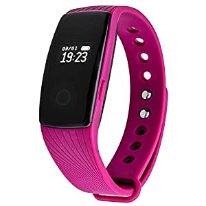 Fitness Tracker SE Group HR with Heart Rate and Sleep Monitor, Waterproof Smart Watch Pedometer Calories Counter Touch Screen Band, Sports Exercise Bracelet Activity Wristband for iPhone and Android