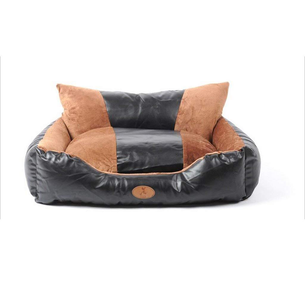 Large HeiPlaine Pet Sofa Labrador Kennel Washable Mat golden Husky Dog Large Dogs Large Dog Bed Pet Nest Queen Summer (Size   Large)