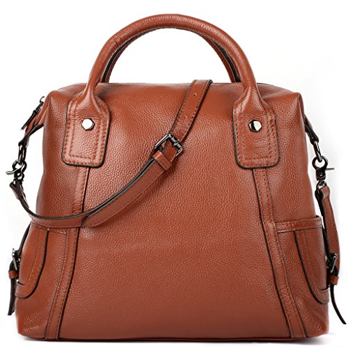 YALUXE Womens Genuine Leather Shoulder