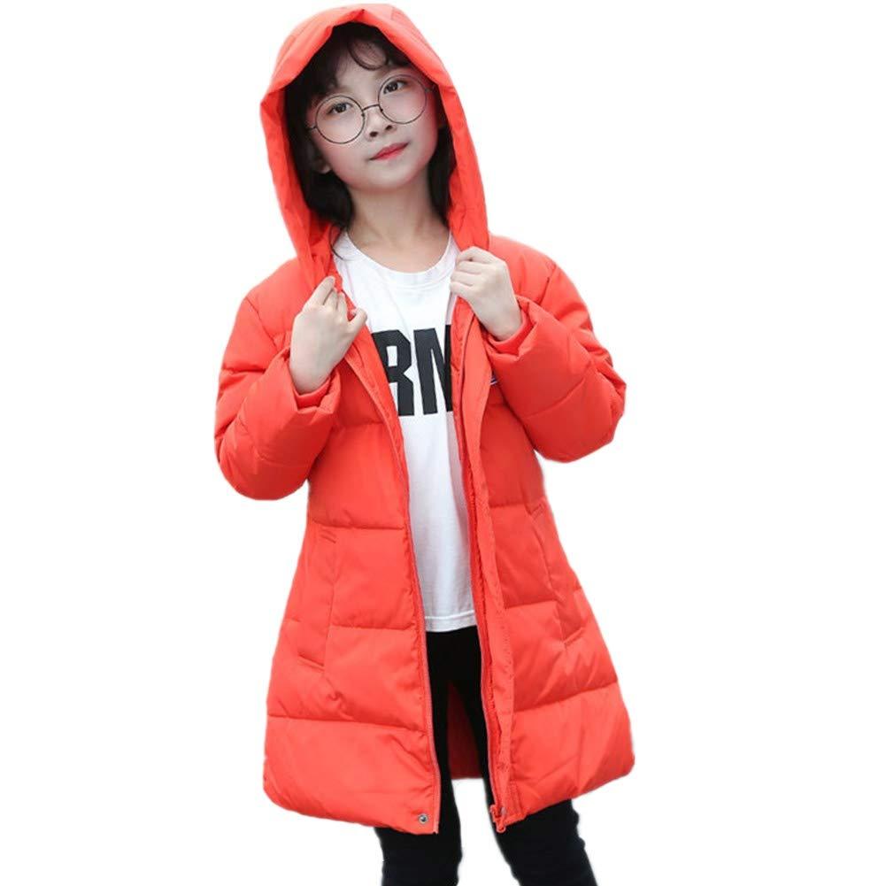 Simple Kids Winter Unisex Down Jacket Hooded Outwear Warm Windbreaker Coat