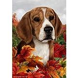 Cheap Fall Leaves Garden Size Flag Beagle