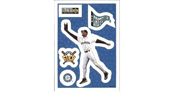 a561a6714b Amazon.com: 1997 Collector's Choice Stick'Ums Baseball Card #24 Ken Griffey  Jr. Near Mint/Mint: Collectibles & Fine Art