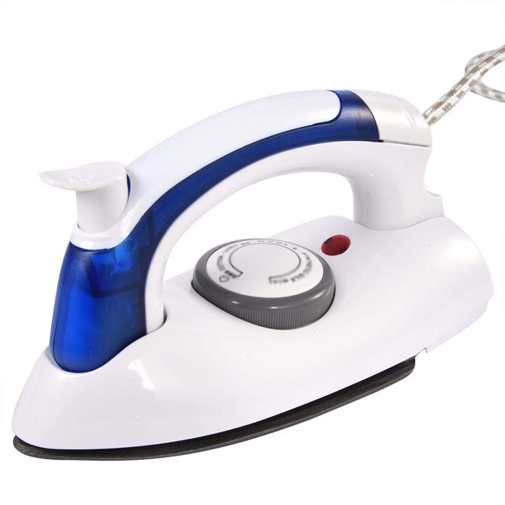 ZWenT Mini Foldable Handheld Electric Steam Iron,Safe High Temperature Non-Slip Anti-Scalding Handle for Home Travelling 1600W White