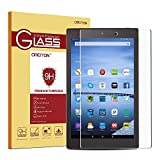 Fire HD 10 Glass Screen Protector, OMOTON Tempered Glass Screen Protector for Fire HD 10 (2015 Released) with [9H Hardness] [Crystal Clear] [Scratch Resist] [Bubble Free Install]