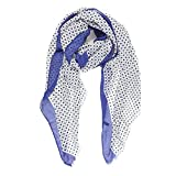 Scarves for Women by MIMOSITO Fashion Lightweight Elegant Geometric Patterned Wrap (Polka Dot-Blue)