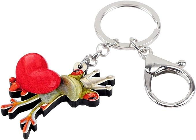 GPZEDCDB Porte-cl/és Acrylique Dessin Anim/é Pouce Grenouille Porte-cl/és Anneau Bijoux Animaux Cadeau pour Femmes Femmes Adolescents Sac Charmes Pendentif