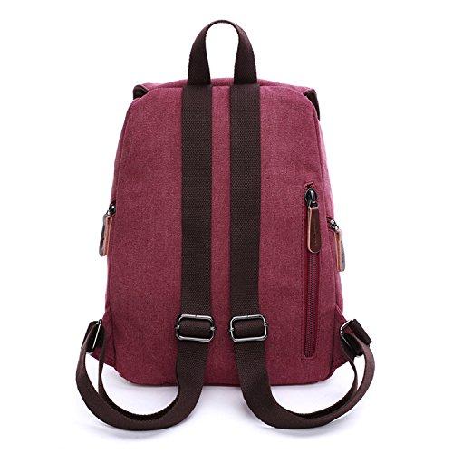Dos de Filles Loisir Bag Voyage Université Backpack Sport Outreo pour Sacoche école Vintage Sac Bourse à Rouge Femme Cours Sac YZqEOwP