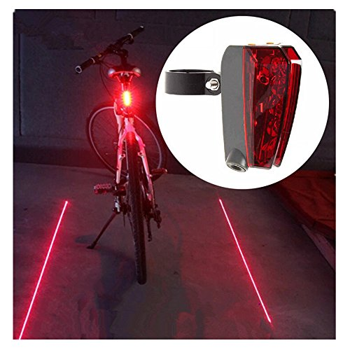Candance Bicycle Taillight Tail Light Rechargeable Bike Rear LED Light with 5 LED 2 Beams