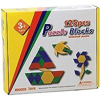 Wooden Toys 125 Parça Ahşap Puzzle / Tangram