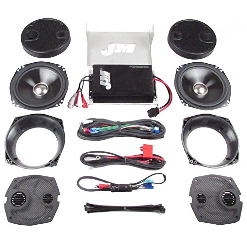 - J&M Audio 4 Speaker and 400 Watt Amplifier Kit for 2006-2013 Harley-Davidson Ultra Classic Limited models - JHAK-HCU06-4004SP
