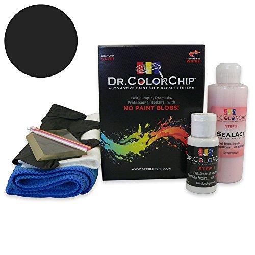 Dr. ColorChip Nissan Titan Automobile Paint - Galaxy Black Metallic/Liquid Onyx G10 - Squirt-n-Squeegee Kit 2006 Black Onyx