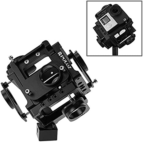 Color : Black Black Camera Products 6 in 1 CNC Aluminum Alloy Housing Shell Protective Cage with Screw for GoPro HERO4 //3+ Camcorder Cases
