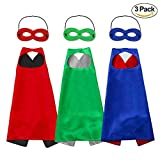 Horsky Unisex Capes and masks – Dressing up Cloaks for Boys and Girls Blue Green Red Black