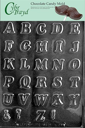 cybrtrayd l039 letters a z small chocolate candy mold with exclusive cybrtrayd copyrighted chocolate molding