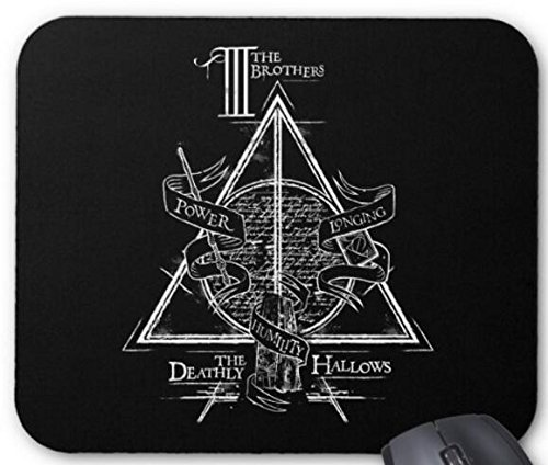 Harry Potter Spell   Deathly Hallows Graphic Mouse Pad Computer Accessories  Gaming Mouse Mat 11 8X9 8
