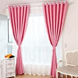 Jiyaru 2 Panels Window Treatment Blackout Curtains Thermal Insulated Bedroom Drapes Pink 39x98 Inch