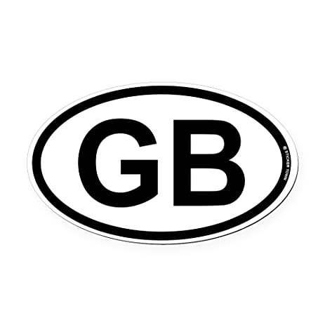 Cafepress gb great britian oval car magnet oval car magnet euro oval
