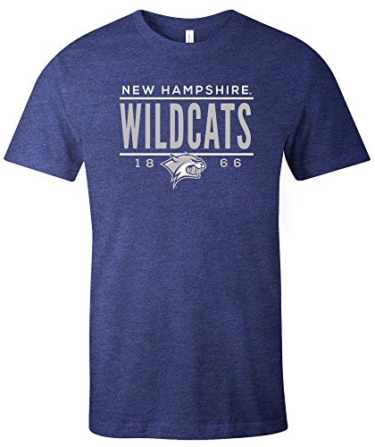 NCAA New Hampshire Wildcats Tradition Short Sleeve Tri-Blend T-Shirt, Navy,Large