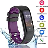 iBacakys Fitness Tracker HR, 2018 Upgrade Activity Tracker Fitness Watch with Heart Rate Blood Pressure Monitor, IP67 Waterproof Pedometer for Men Women Kids Android iPhone