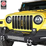Black Front Grille Clip-in Mesh Inserts for 1997-2006 Jeep Wrangler TJ & Unlimited (Pack of 7)