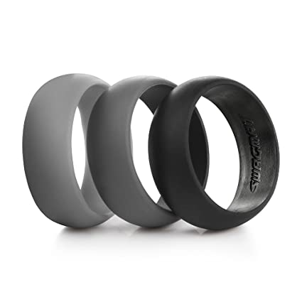Impartial Titanium Black Rubber Flat 8mm Brushed Wedding Ring Band Size 6.50 Type Of Engagement & Wedding