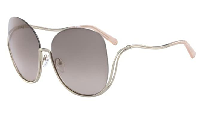 f4b5d6ec55a401 Chloe Women s Milla - CE125SL Gold Transpaent Peach Sunglasses ...