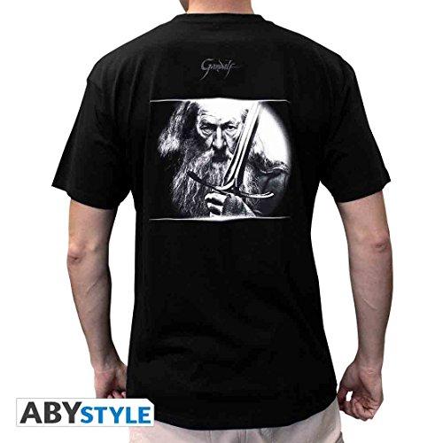 Tshirt Taille amp; Noir L The Épée Hobbit Gandalf awxqvc67p