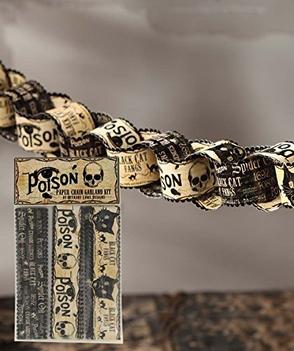 Bethany Lowe Halloween Poison Paper Chain Garland Kit