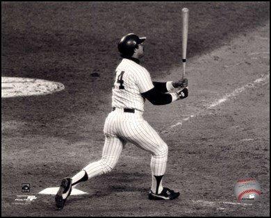 Reggie Jackson- 1977 World Series, 6th last Game, 3rd Home Run Art Poster Print